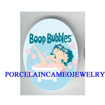 BETTY BOOP TAKING BUBBLE BATH* UNSET CAMEO PORCELAIN CAB