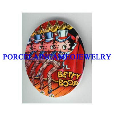 BETTY BOOP DANCING   * UNSET CAMEO PORCELAIN CAB
