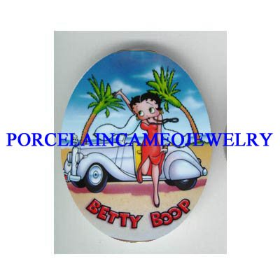BETTY BOOP VACATION SPORTS CAR   * UNSET CAMEO PORCELAIN CAB