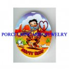 WESTERN BETTY BOOP ON HORSE* UNSET CAMEO PORCELAIN CAB