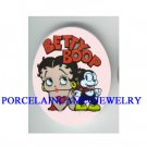 BETTY BOOP WITH HER CAT UNSET CAMEO PORCELAIN CAB 30X40