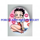 BETTY BOOP SEXY LIPS KISSES* UNSET CAMEO PORCELAIN CAB