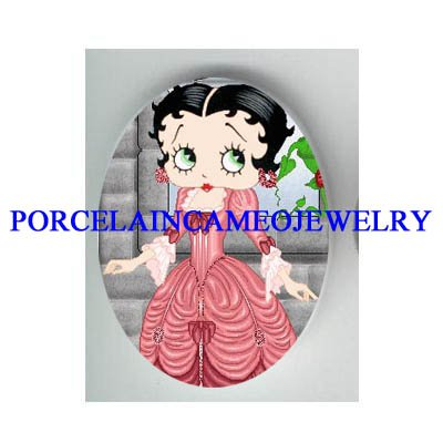 BETTY BOOP QUEEN MARIA  ANTOINETTE * UNSET CAMEO PORCELAIN CAB