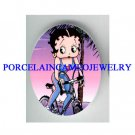EXCISE BETTY BOOP BIKER  * UNSET CAMEO PORCELAIN CAB