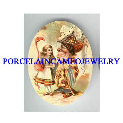 ALICE IN WONDERLAND THROUGH THE LOOKING GLASS PORCELAIN CAMEO CAB