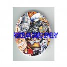 KITTY CAT COLLAGE BAKING* UNSET PORCELAIN CAMEO CAB
