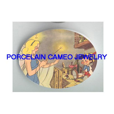 VICTORIAN PINOCCHIO WITH FAIRY PORCELAIN CAMEO CAB