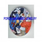 VICTORIAN CINDERELLA HELP SISTERS DRESS UP FOR PARTY  * UNSET PORCELAIN CAMEO CAB