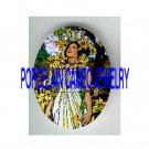 ALPHONSE MUCHA FLOWER LADY UNSET PORCELAIN CAMEO