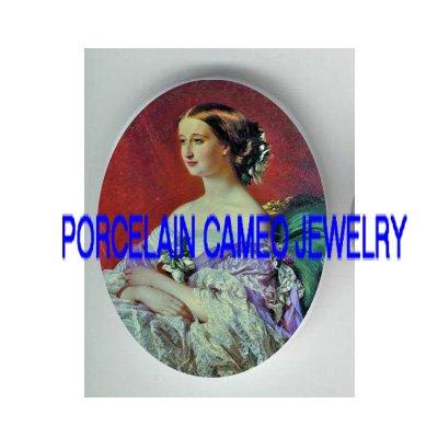 VICTORIAN ROYAL PRINCESS LADY* UNSET PORCELAIN CAMEO CAB