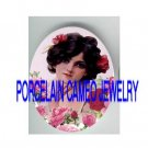 VICTORIAN SMILING SWEET ROSE LADY * UNSET PORCELAIN CAMEO CAB
