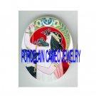 ART NOUVEAU SEA SHELL GODDESS GREEK LADY  * UNSET PORCELAIN CAMEO CAB