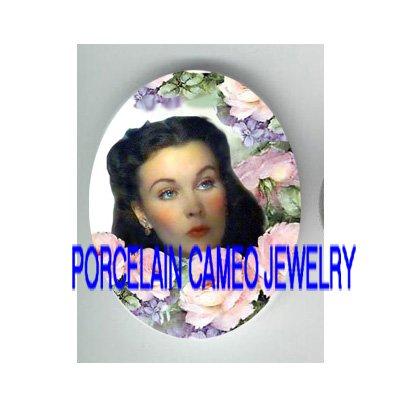 GONE WITH THE WIND SCARLETT ROSE VIOLET PORCELAIN CAMEO CAB