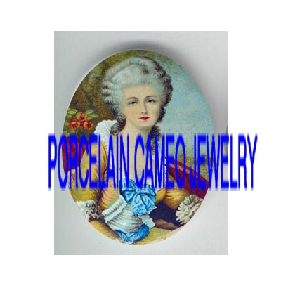VICTORIAN FRENCH ROYAL LADY ROSE* UNSET PORCELAIN CAMEO CAB