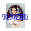 VICTORIAN PURPLE LACE MOM HOLDING BABY   * UNSET PORCELAIN CAMEO CAB