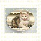 KITTY CAT PLAYING PIANO* UNSET PORCELAIN CAMEO CAB