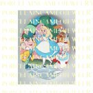 ALICE IN WONDERLAND WITH RABBIT  * UNSET PORCELAIN CAMEO CAB