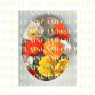 COLORFUL POPPY FLOWER* UNSET PORCELAIN CAMEO CAB
