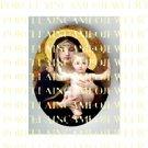 CATHOLIC VIRGIN MARY HOLDING BABY JESUS  UNSET PORCELAIN CAMEO CAB