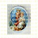 CATHOLIC CROWN VIRGIN MARY BABY JESUS MADONNA CHILD LILY UNSET PORCELAIN CAMEO CAB 23-14