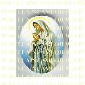 CATHOLIC VIRGIN MARY IN PRAYER UNSET PORCELAIN CAMEO CAB 23-19