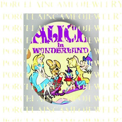 ALICE IN WONDERLAND UNSET PORCELAIN CAMEO CAB 26-3