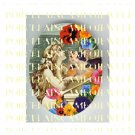 VICTORIAN MERMAID RAPHAEL ANGEL CAT PANSY PORCELAIN CAMEO CAB