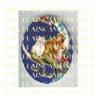 VICTORIAN MERMAID CUDDLING MERMAID CAT FLOWER MOON PORCELAIN CAMEO CAB 18X25MM