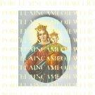CATHOLIC CROWN VIRGIN MARY BABY JESUS PORCELAIN CAMEO CAB 29-2