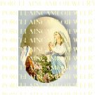 PRAYING  VIRGIN MARY ROSE   * UNSET PORCELAIN CAMEO CAB