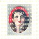 ART DECO FLAPPER LADY UNSET PORCELAIN CAMEO CAB 39-2