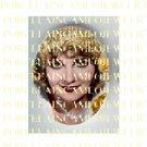 ART DECO VINTAGE FLAPPER LADY * UNSET PORCELAIN CAMEO CAB 39-16