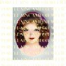 ART DECO VINTAGE FLAPPER LADY * UNSET PORCELAIN CAMEO CAB 39-21