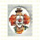 SMILING CLOWN * UNSET PORCELAIN CAMEO CABOCHON 30X40MM