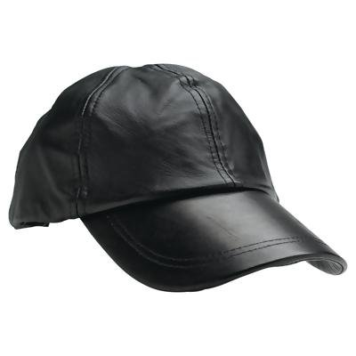 Giovanni Navarre® Solid Genuine Leather Baseball Cap