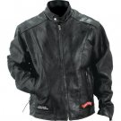 Diamond Plate™ Rock Design Genuine Buffalo Leather Motorcycle Jacket