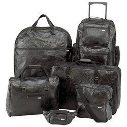Embassy� 6pc Italian Stone� Design Genuine Leather Luggage Set