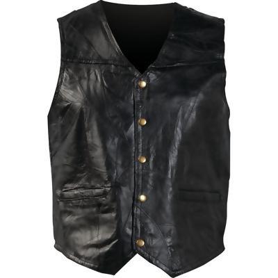 Giovanni Navarre® Italian Stone� Design Genuine Leather Vest