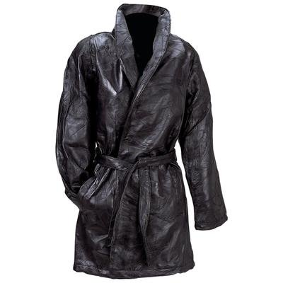 Giovanni Navarre® Italian Stone� Design 3/4 Length Genuine Leather Coat