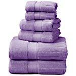 100% Ring-Spun 6-Piece Towel Set, Lilac