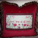 A Friend Loves At All Times-Friendship Gift Handmade Pillow by Veronica Mandolini 100.-FS