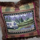 "Home Is Where You Hook Up 16"" Handmade Pillow By Veronica Mandolini 87.00-FS"