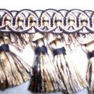 Double Tassel Fringe, Fleco 2300 Black, Biege, Pale Gold, 21.95-FS