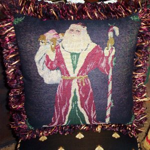 Father Christmas Handmade Pillow by Veronica Mandolini 94.00- FS