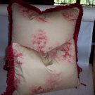 Custom Handmade Pillows Toile Set by Veronica Mandolini 94.00-FS