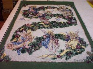 Angel of Wreath Tapestry Panel, Lena Liu  - 24.95-FS