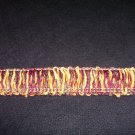 "Chenille Loop Fringe  1 1/2"" 2412  Rust/Gold/Green  10.49yard-FS"