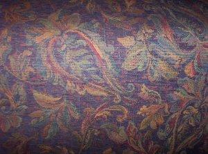 Purple Chenille Leaf Pattern SAMPLE-3.50