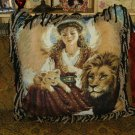 Angel Lion Lamb/ Dona Gelsinger Tapestry PICTURE Handmade Pillow X-Large -FS