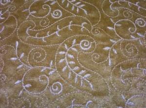Marilyn Gold Chenille Embroidered Fabric 42.99